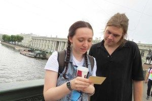 Lera and Ivan, undergraduate students who volunteered to bring Bob Alberts and I through St Petersburg.
