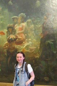 Lera in front of one of her favourite paintings displayed at the Russian Museum.