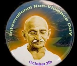 Gandhi JAYANTI October 2 - UN International Day of Nonviolence